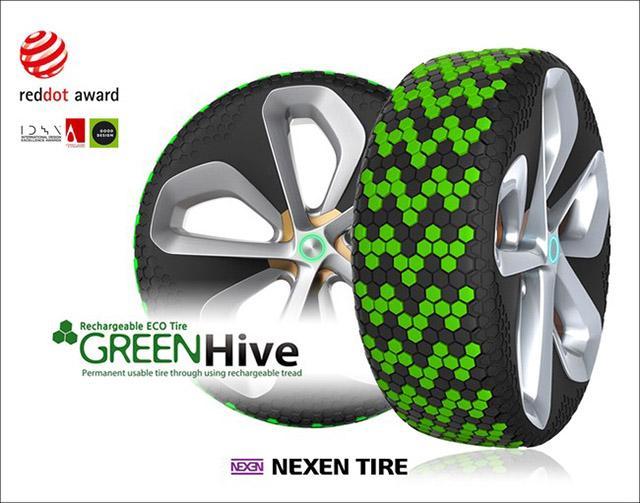Концепт-шины Nexen Green Hive отмечены премией Red Dot Design Award 2016