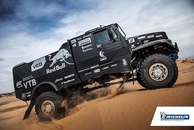 Капотный гоночный грузовик КАМАЗ-43509 оснастили серийными шинами Michelin XZL+
