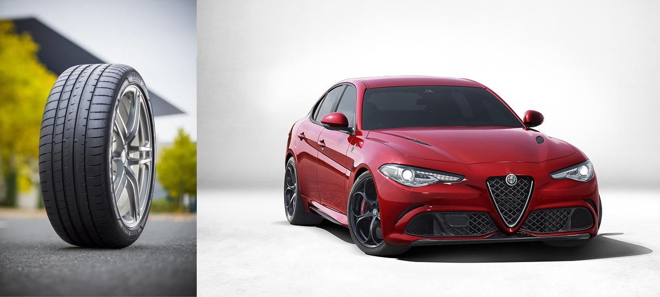 Для новой Alfa Romeo Giulia выбрали «обувь» от Goodyear