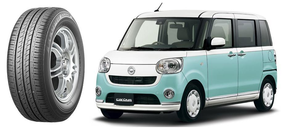 Новые кей-кары Daihatsu Move canvas поедут на шинах Bridgestone Ecopia EP150