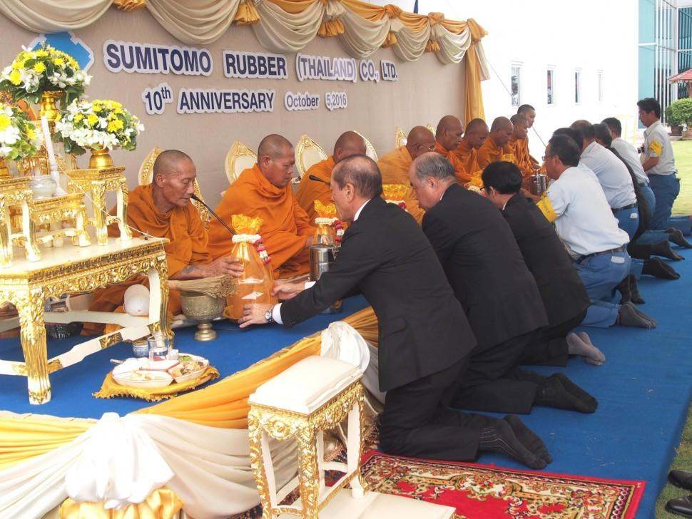 Sumitomo отметила десятилетие своего завода в Таиланде