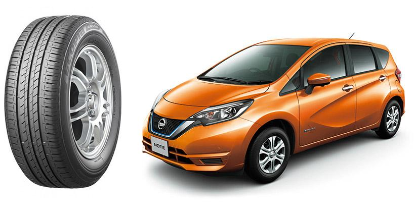 Гибриды Nissan Note e-Power оснастят топливосберегающими шинами Bridgestone Ecopia EP150