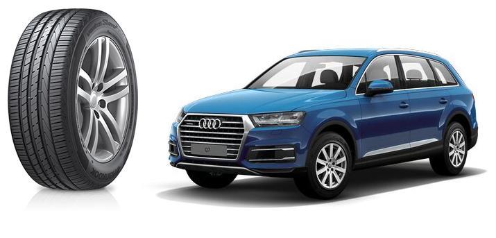 Audi выбрала для Q7 шины Hankook с технологией Sound Absorber