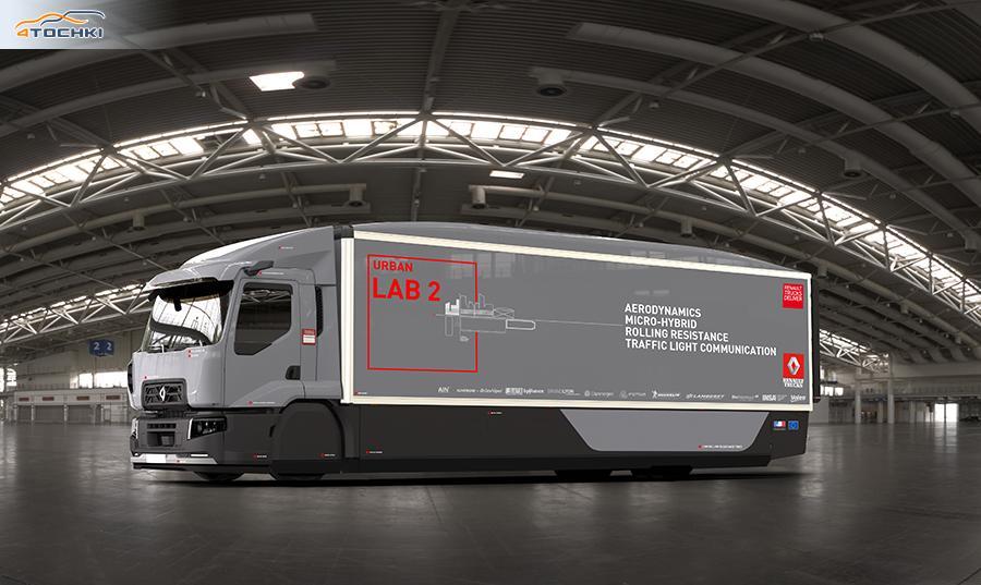 Мишлен разработал шины для сверхэкономичного грузовика Renault Urban Lab 2