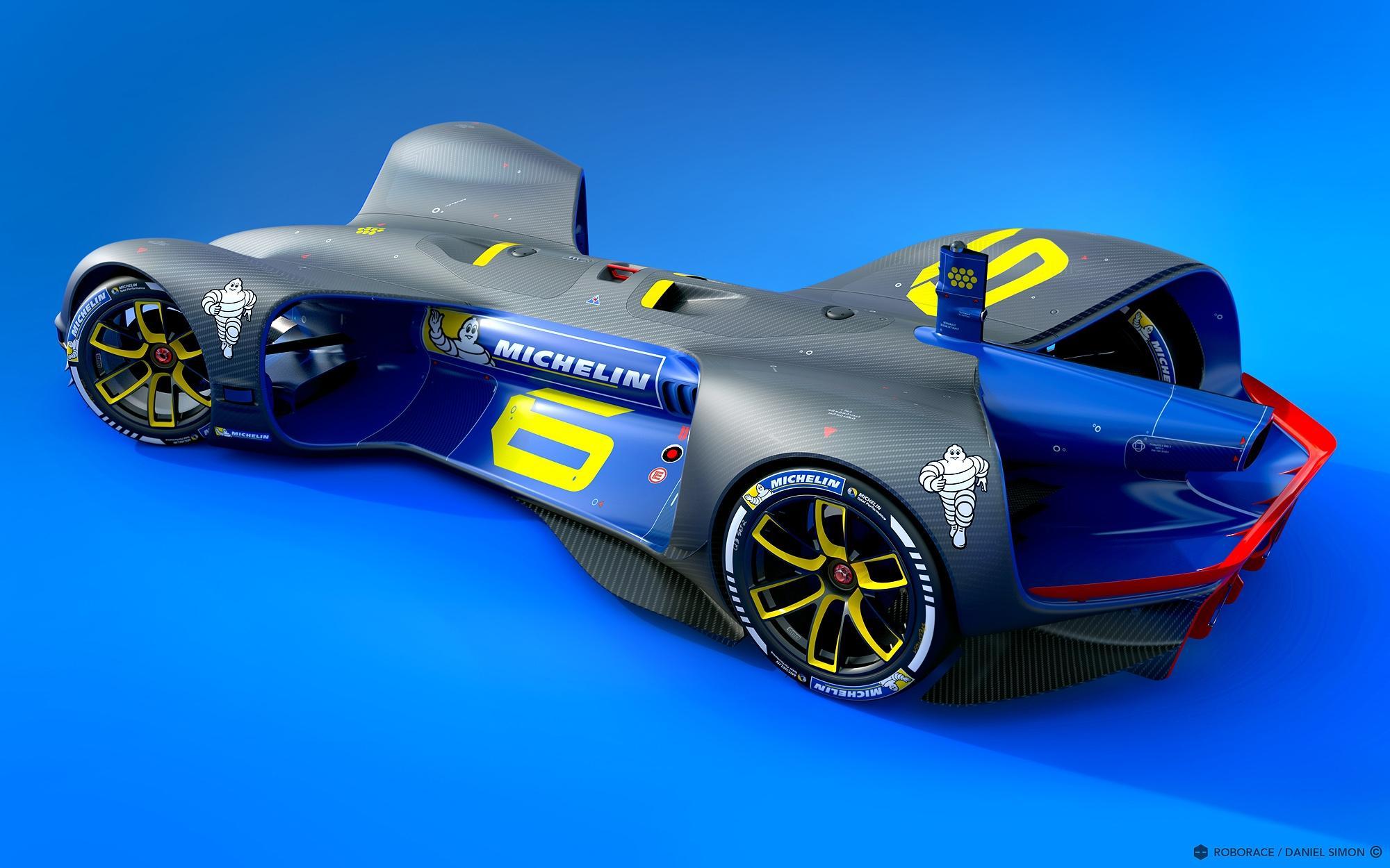 Мишлен будет поставщиком шин для робокаров серии Roborace
