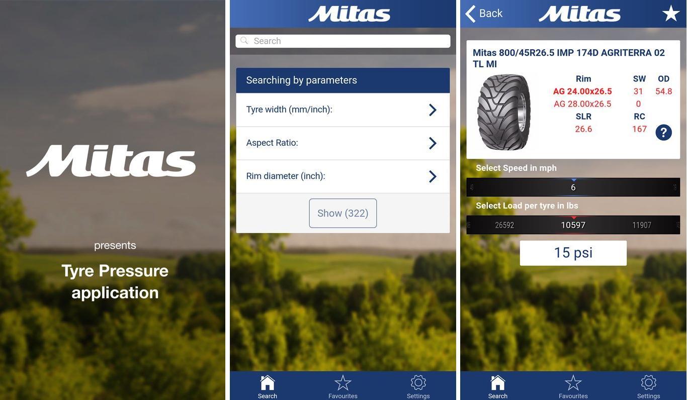 Мобильное приложение от Mitas поможет выбрать оптимальное давление в агрошинах