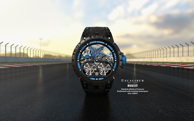 Roger Dubuis представила часы Excalibur Spider Pirelli с ремешками из гоночных шин