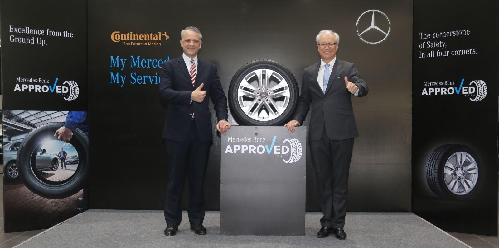 Mercedes-Benz India объявила о партнерстве с Continental Tyres