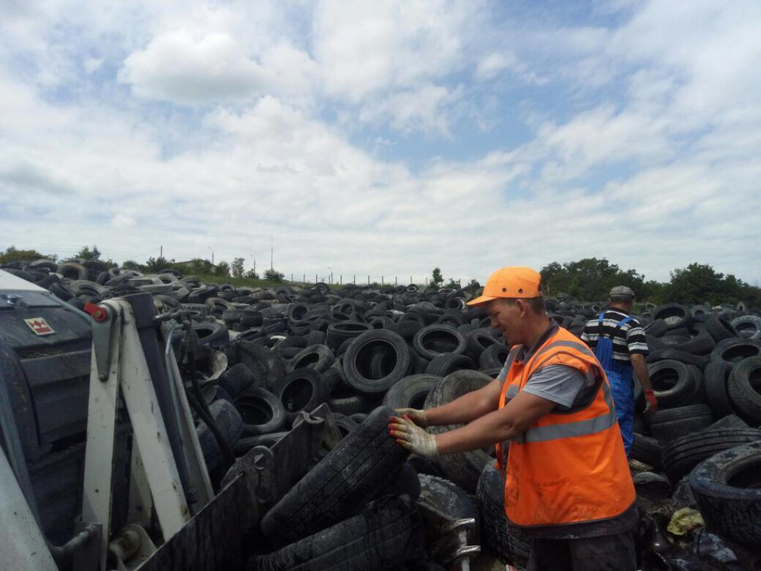 Администрации Новороссийска удалось решить проблему переработки старых шин