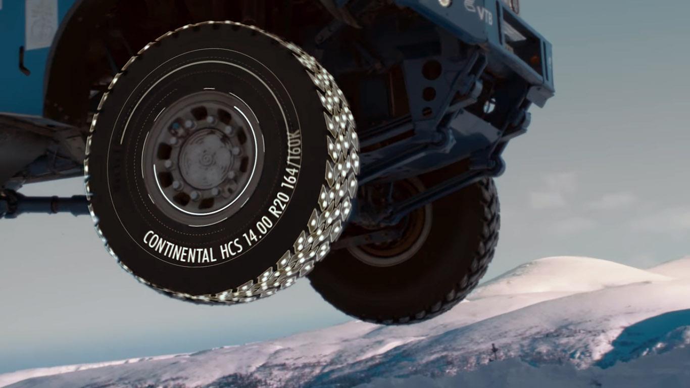 «КАМАЗ-мастер» тестирует гоночные шины Continental в Заполярье