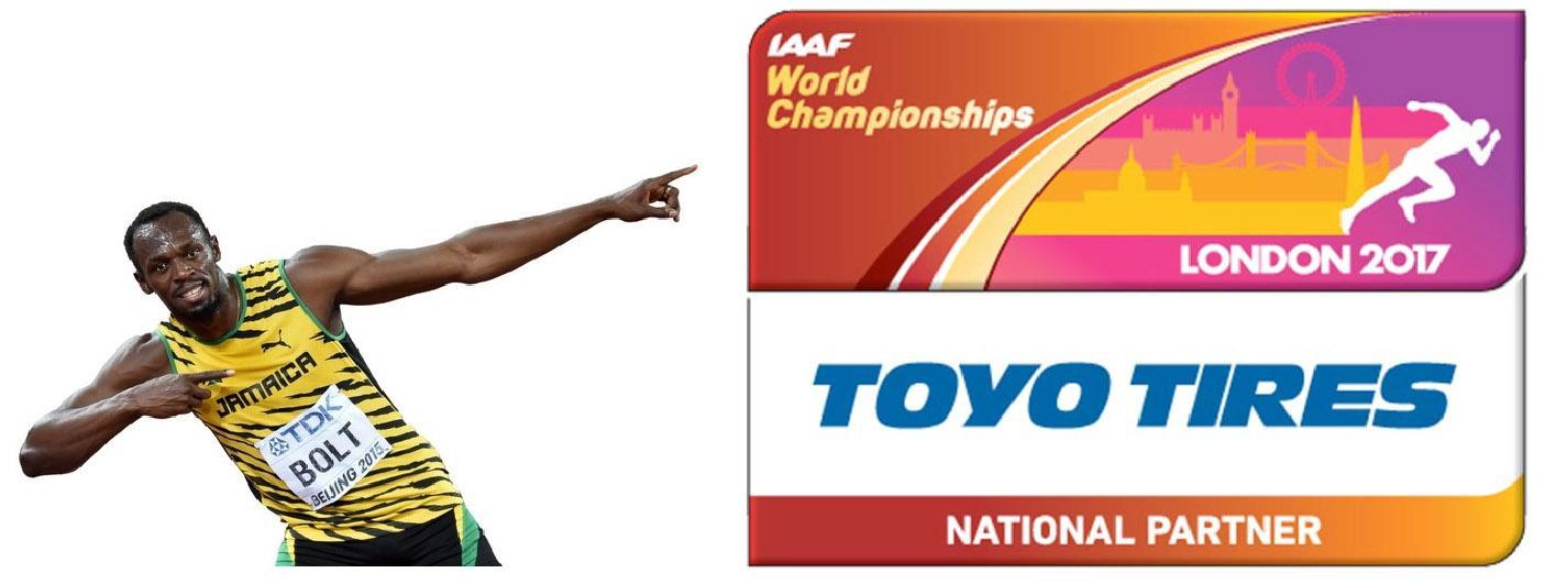 Toyo Tires - национальный партнер IAAF World Championships London 2017