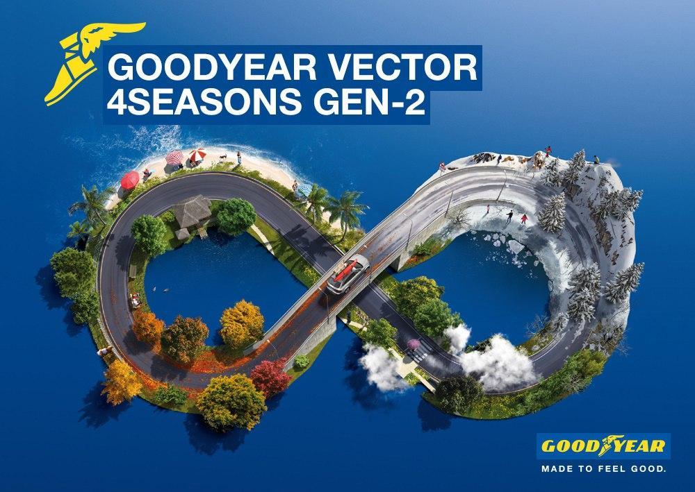 Всесезонки Goodyear Vector 4Seasons Gen-2 получили 54 омологации на первичную комплектацию