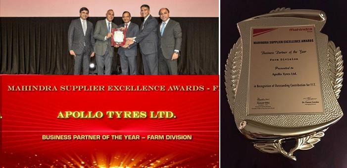 Apollo Tyres - «Лучший бизнес-партнер года» компании Mahindra