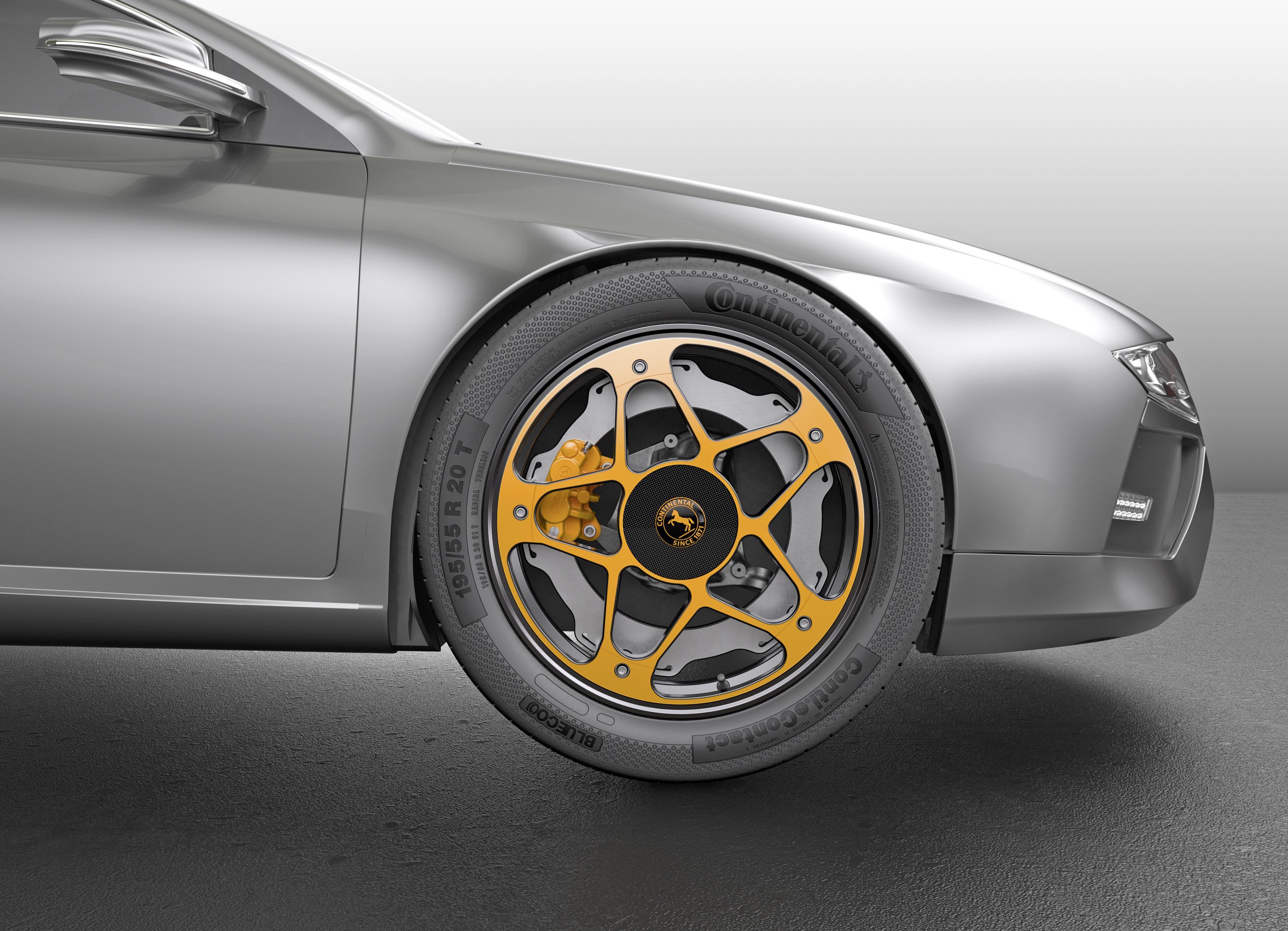 Continental разработал новые концепт-колеса для электромобилей