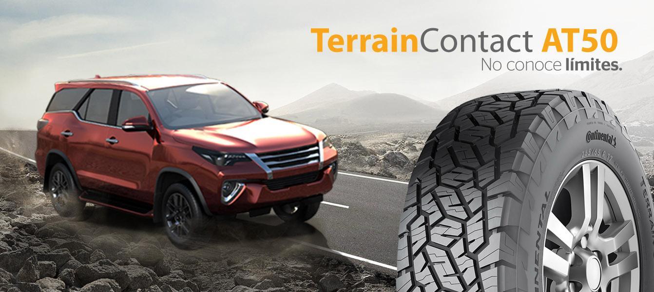 Continental запускает в Южной Америке новые вседорожные шины TerrainContact AT50