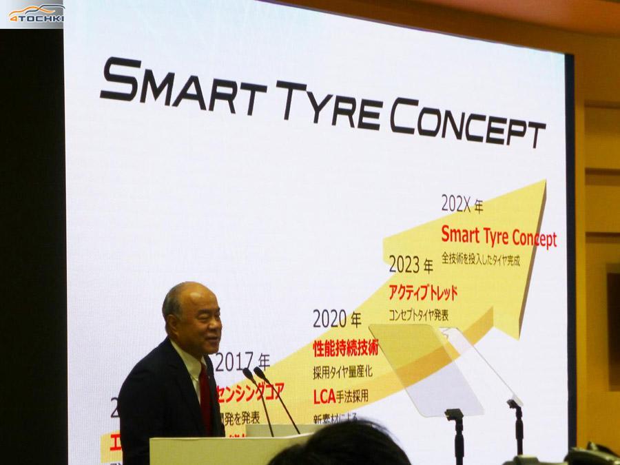 Sumitomo представила новую концепцию развития шинных технологий Smart Tyre Concept