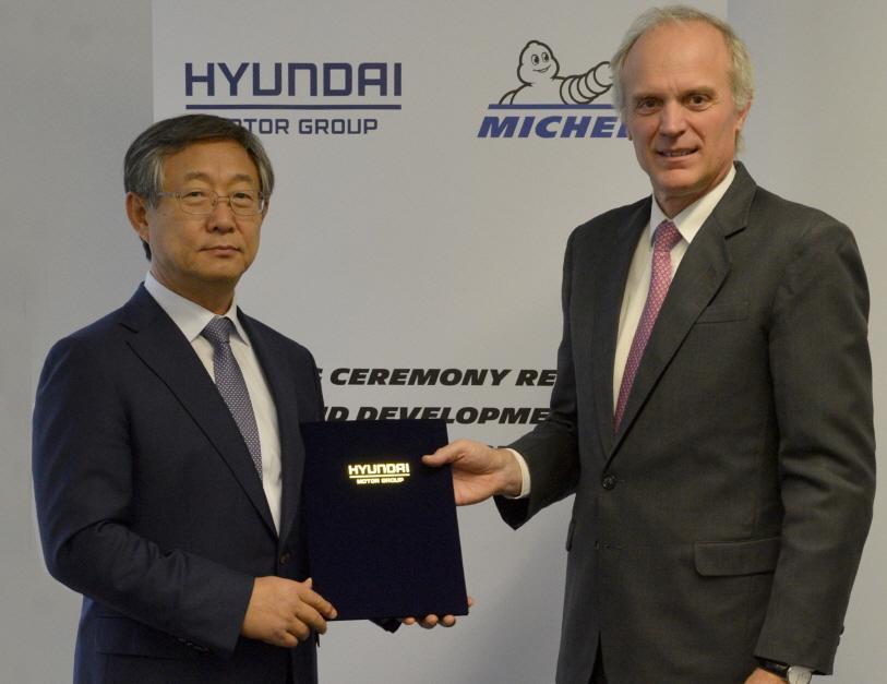 Michelin и Hyundai будут совместно разрабатывать шины для электромобилей