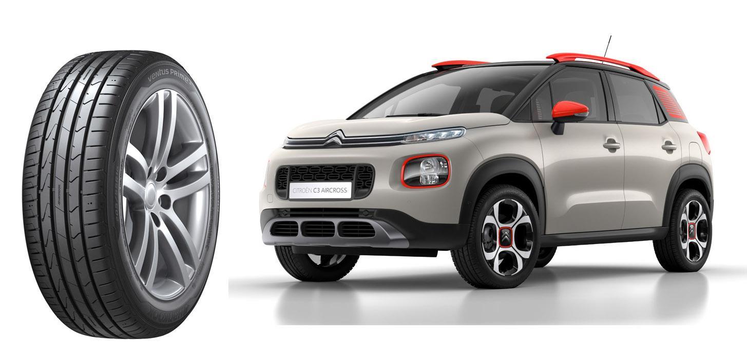 Шины Hankook вошли в список оригинальных комплектующих Citroën C3 Aircross