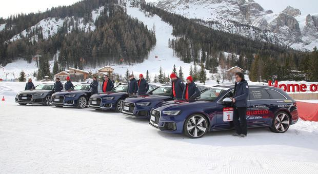 Audi RS 4 Avant на шинах Dunlop Winter Sport покоряет Альпы
