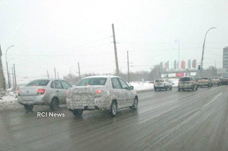 Рестайлинговая Lada Granta снова попалась на дорогах