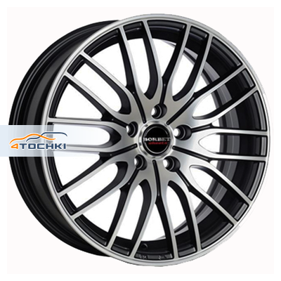 Диски Borbet CW4/5 Matt Black Polished 7x17/5x108 ЕТ45 D72,5