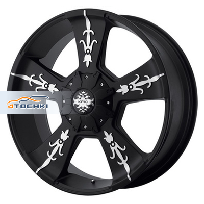 Диски KMC KM668 Black/Machined 9x22/5x150 ЕТ30 D110
