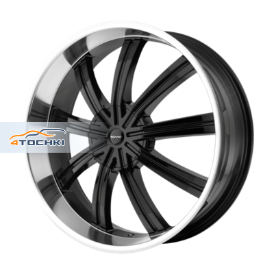 Диски KMC KM672 Black/Machined 9,5x22/6x135*6x139,7 ЕТ38 D106,25