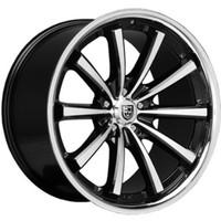 CVX55 Flat Black/Machined/Chrome Lip