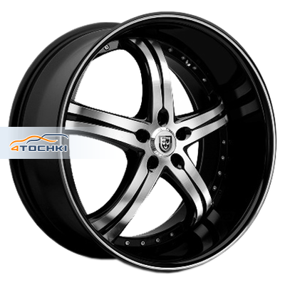 Диски Lexani LSS5 Black/Machined 8,5x20/5x108 ЕТ35 D74,1