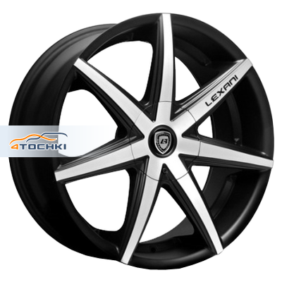 Диски Lexani R7 Black/Machined 9,5x19/5x120 ЕТ25 D74,1