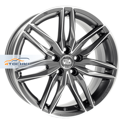 Диски MSW 24 Matt Gun Metal Full Polished 8x17/5x105 ЕТ40 D56,6