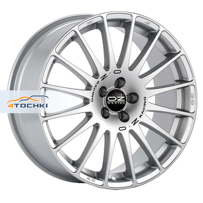 Диски OZ Superturismo GT Race Silver + Black Lettering 7,5x17/5x112 ЕТ35 D75