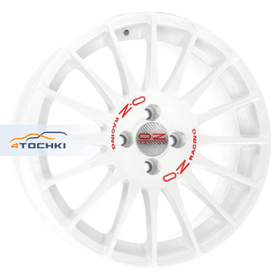 Диски OZ Superturismo WRC White + Red Lettering 7x16/4x108 ЕТ25 D65,1