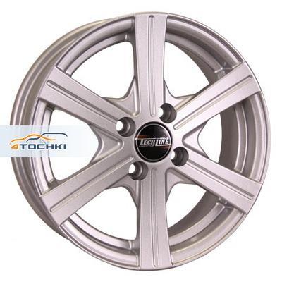 Диски Tech Line 414 Silver 5,5x14/4x100 ЕТ43 D67,1