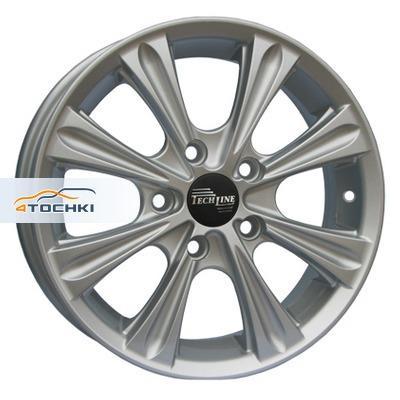 Диски Tech Line 523 Silver 6x15/4x100 ЕТ39 D54,1