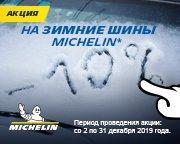 Зимние шины марки Michelin со скидкой 10%