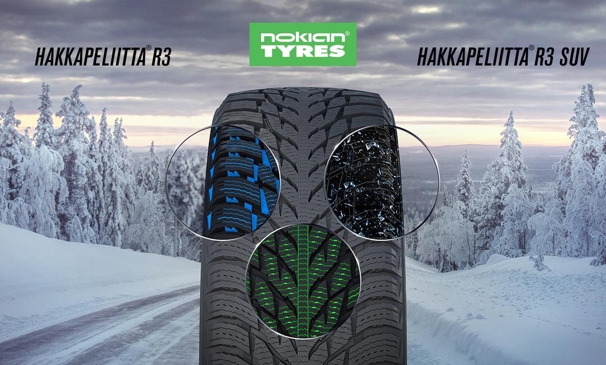 Nokian Hakkapeliitta R3 и R3 SUV – нешипованные шины для сложных климатических условий