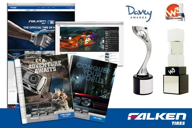 Falken Tire получил шесть серебряных статуэток Davey Awards 2015