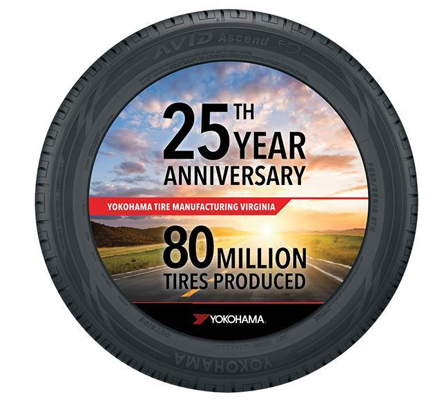 Завод Yokohama в Салеме отметил 25-летие и выпустил 80-миллионную шину