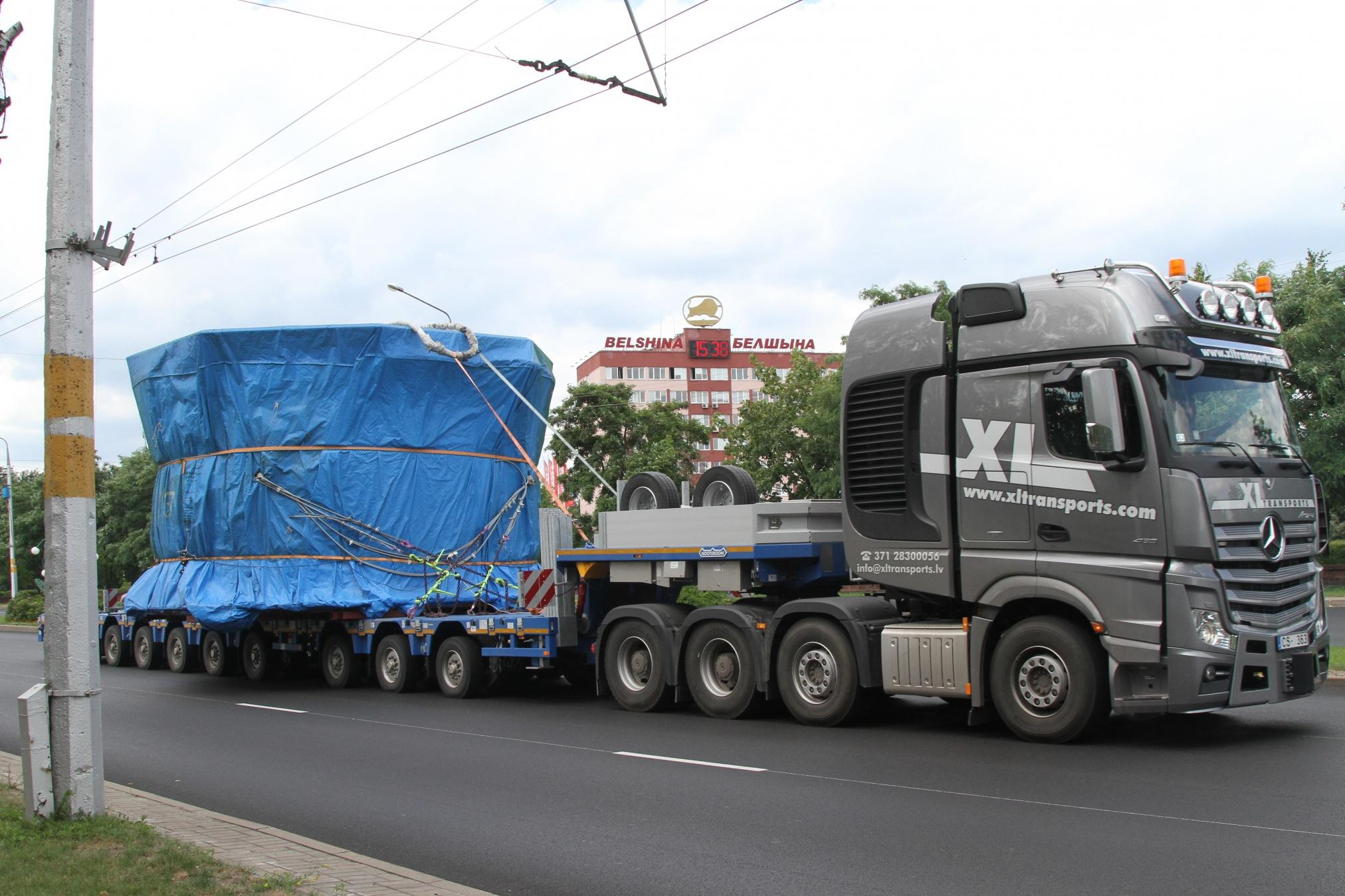 На «Белшину» доставили оборудование для вулканизации ЦМК-шин сверхбольшого диаметра