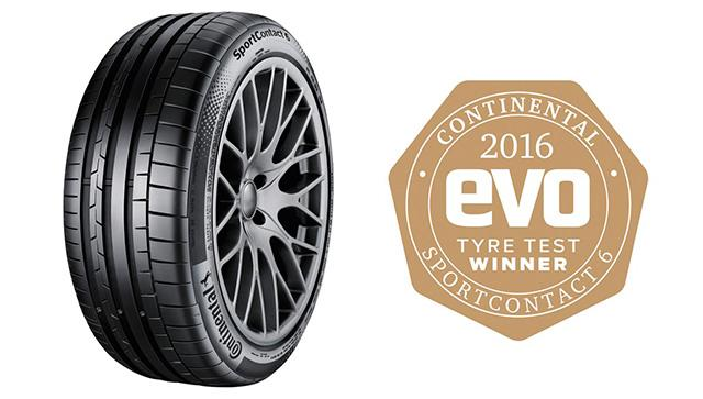 Победа Continental SportContact 6 в сравнительных тестах журнала Evo