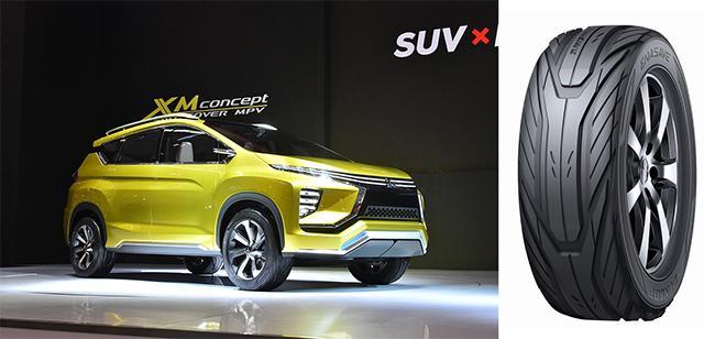 Для премьеры в Джакарте Mitsubishi XM Concept обули в концепт-шины Dunlop Enasave