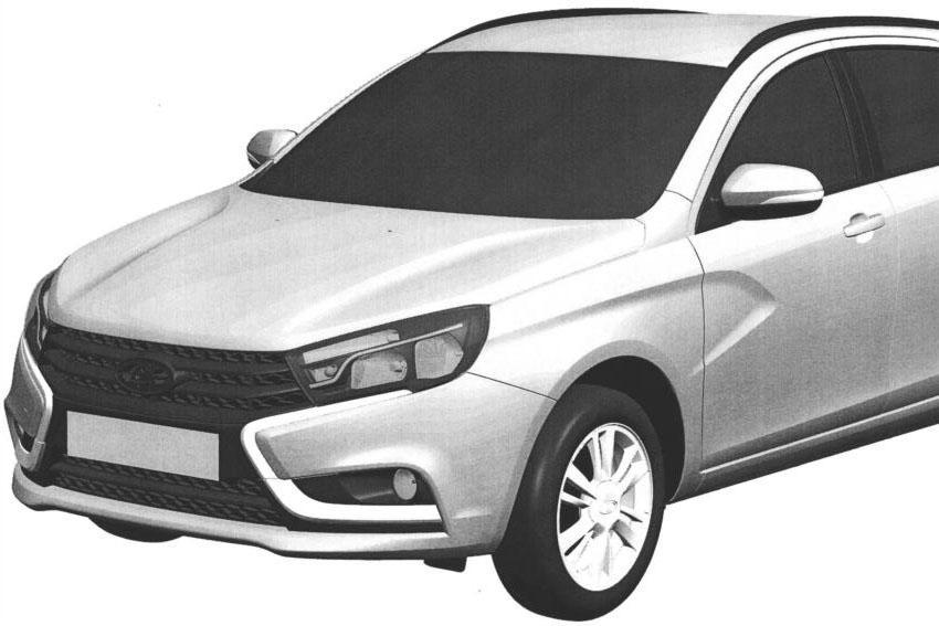 Универсал Lada Vesta: первое изображение серийной версии