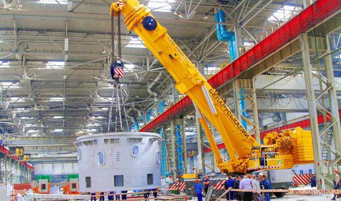 На «Белшине» продолжается монтаж оборудования для выпуска «мегадюймовых» шин