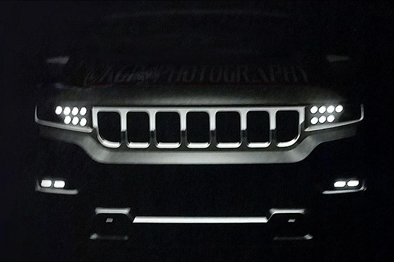 Jeep показал тизер семиместного внедорожника