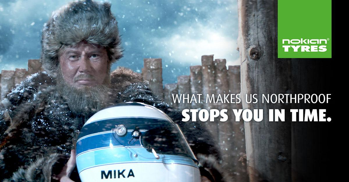 Мика Хаккинен снялся в рекламе зимних шин Nokian Hakkapeliitta 8