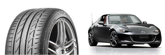 Новые Mazda Roadster RF обуют в спортивные шины Bridgestone Potenza S001