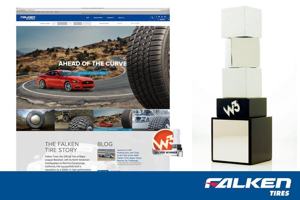 Сайт Falken Tire получил две статуэтки W3 Awards 2016
