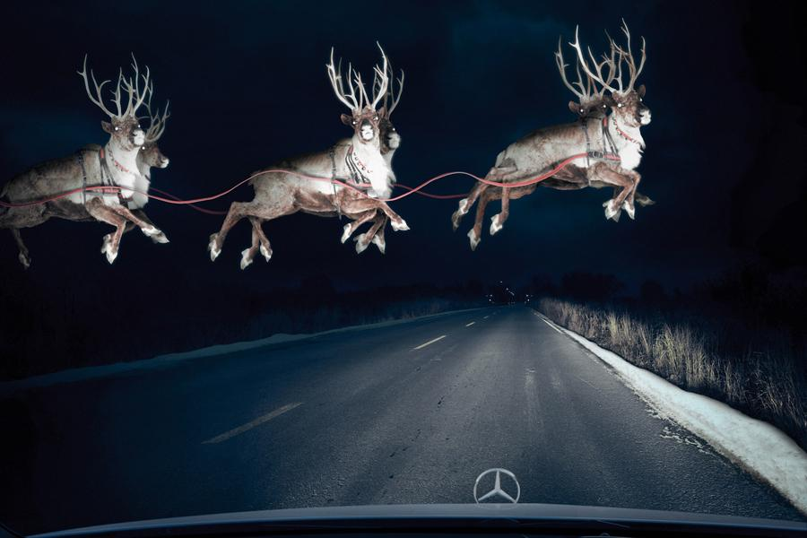 Mercedes делает подарок улетающим в отпуск
