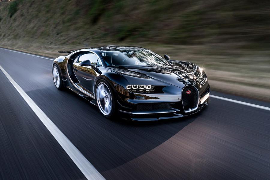 Bugatti Chiron показал, на что он способен